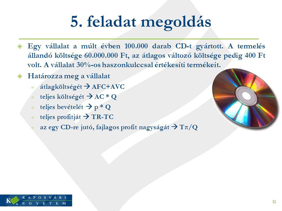 5. feladat megoldás