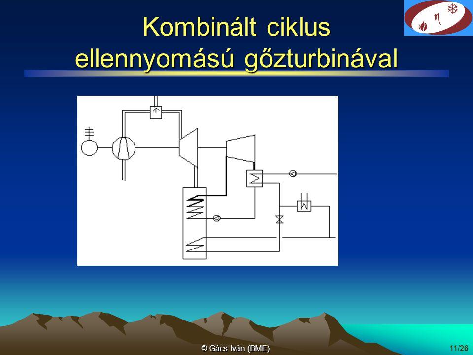 Kombinált ciklus ellennyomású gőzturbinával