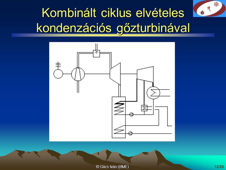 Kombinált ciklus elvételes kondenzációs gőzturbinával
