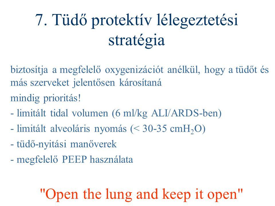 7. Tüdő protektív lélegeztetési stratégia