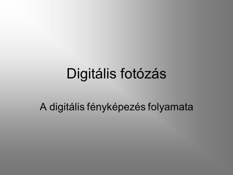 A digitális fényképezés folyamata