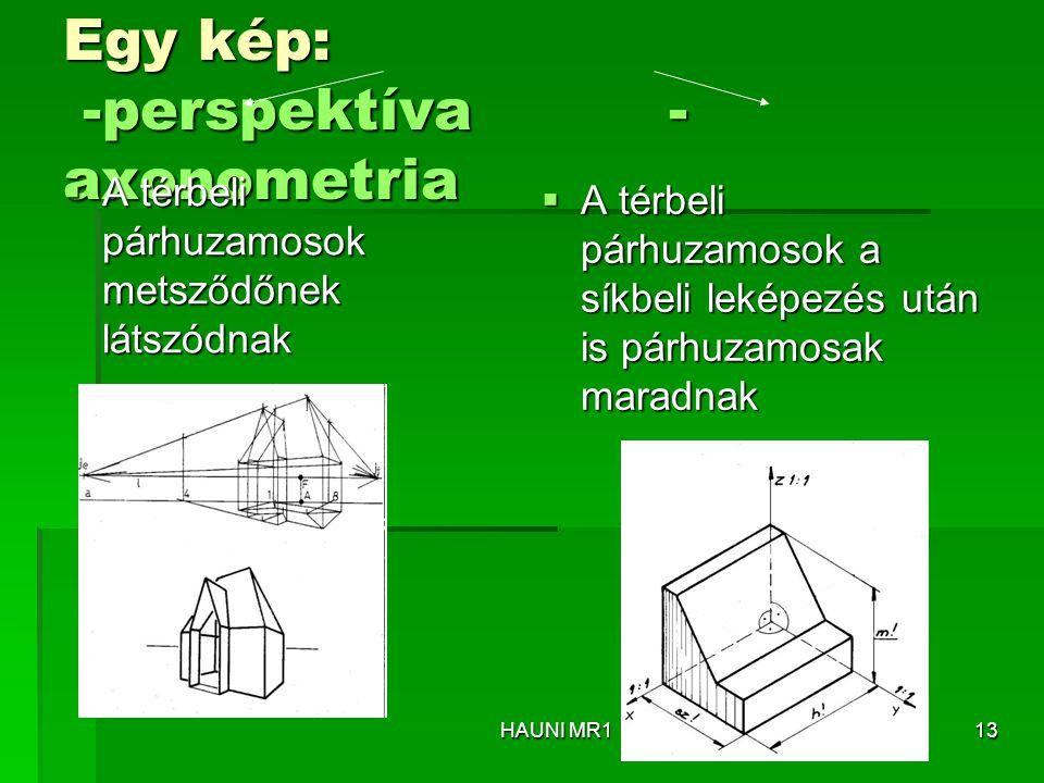 Egy kép: -perspektíva -axonometria