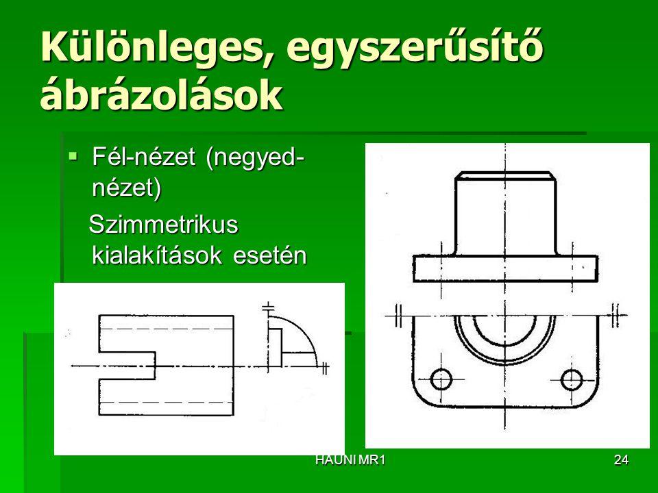 Különleges, egyszerűsítő ábrázolások
