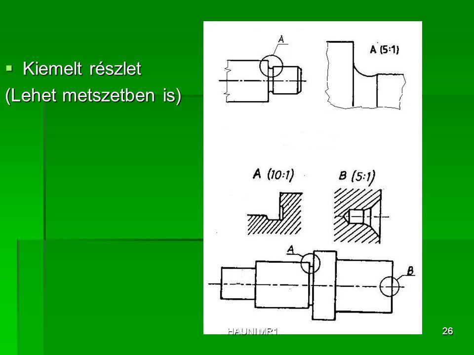 Kiemelt részlet (Lehet metszetben is) HAUNI MR1