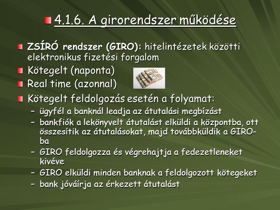 4.1.6. A girorendszer működése