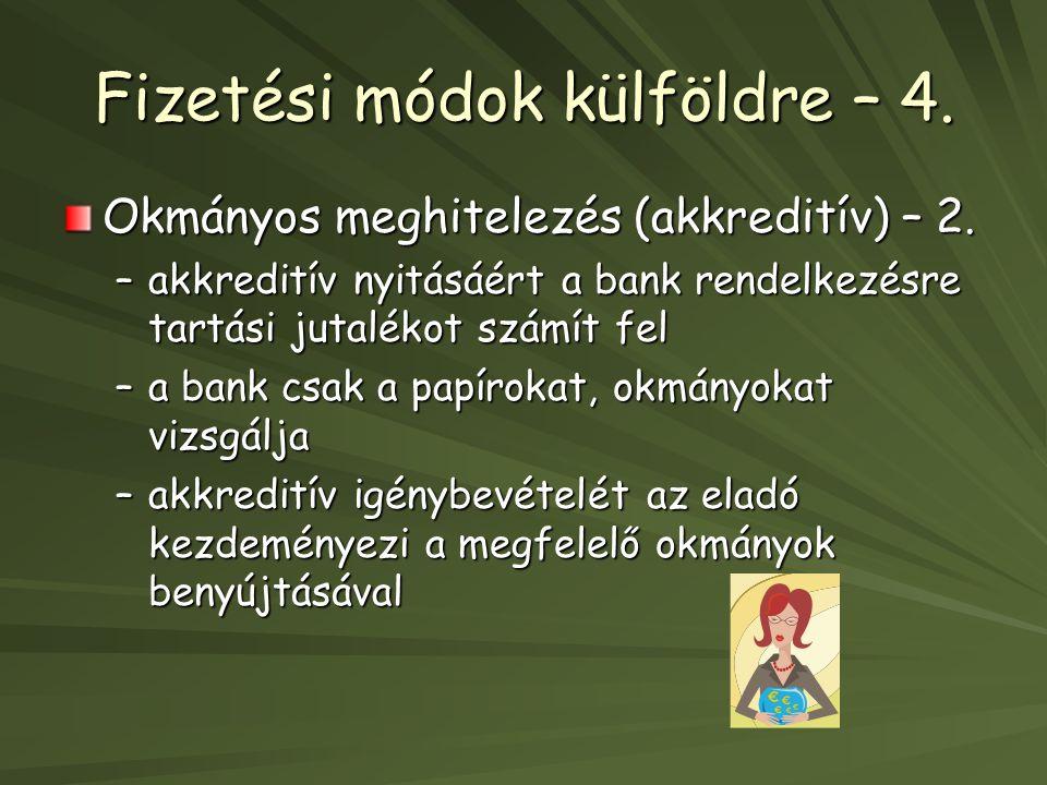 Fizetési módok külföldre – 4.