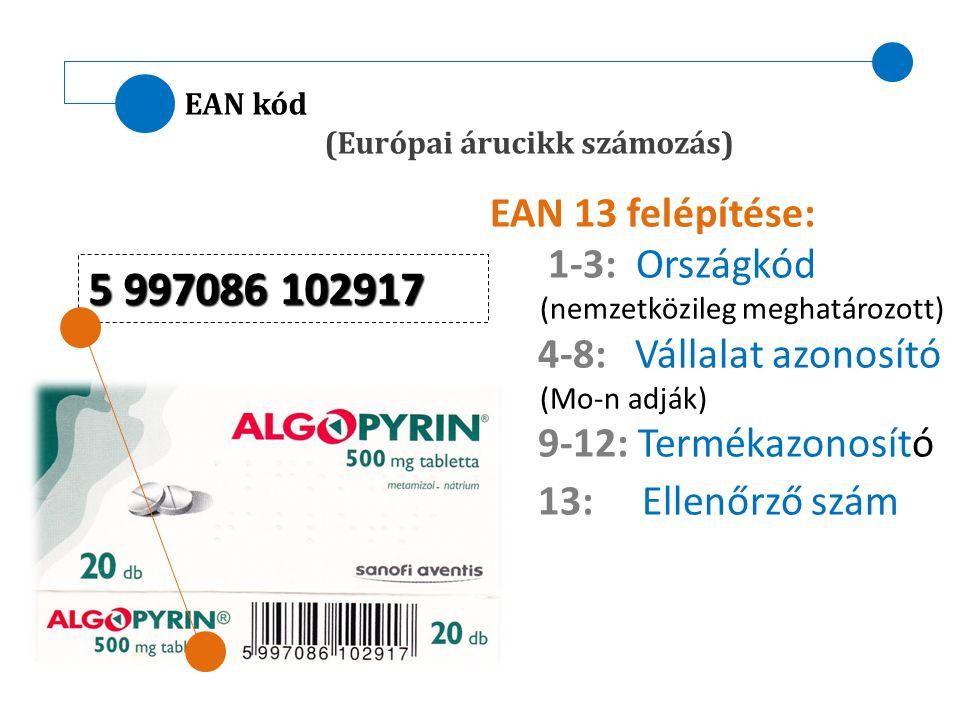 5 997086 102917 EAN 13 felépítése: 1-3: Országkód