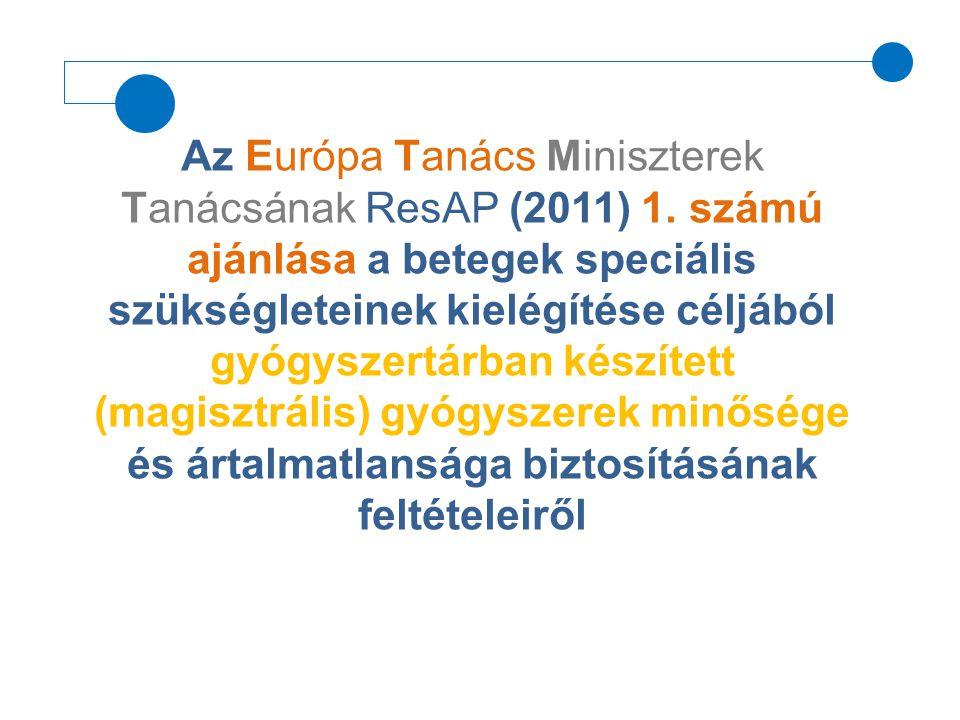 Az Európa Tanács Miniszterek Tanácsának ResAP (2011) 1
