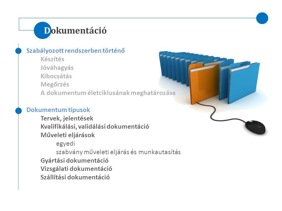 Dokumentáció Szabályozott rendszerben történő Készítés Jóváhagyás