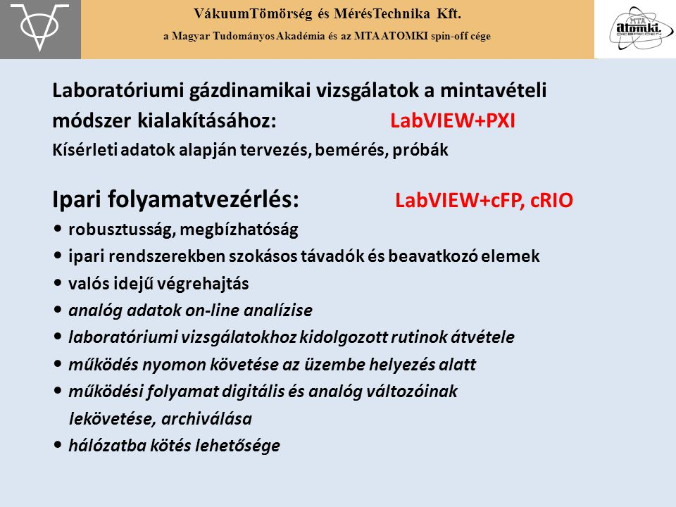 Ipari folyamatvezérlés: LabVIEW+cFP, cRIO