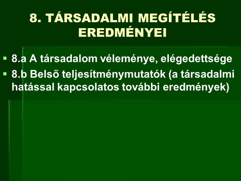 8. TÁRSADALMI MEGÍTÉLÉS EREDMÉNYEI