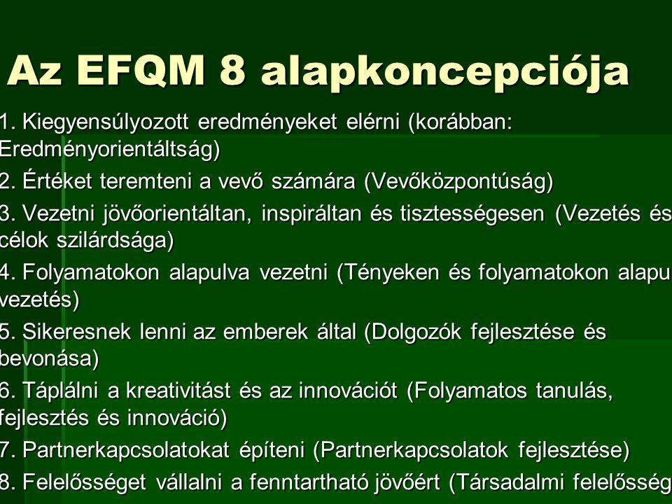 Az EFQM 8 alapkoncepciója