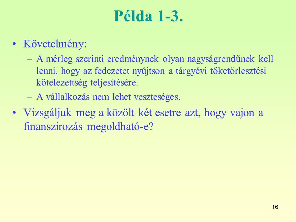 Példa 1-3. Követelmény: