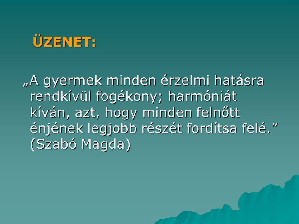 ÜZENET: