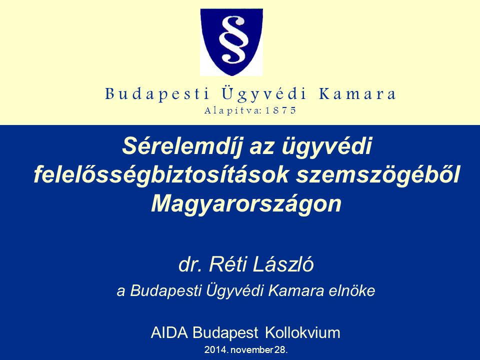 Sérelemdíj az ügyvédi felelősségbiztosítások szemszögéből Magyarországon
