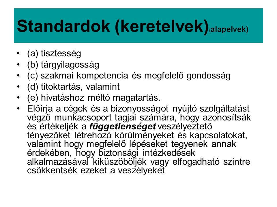 Standardok (keretelvek)(alapelvek)