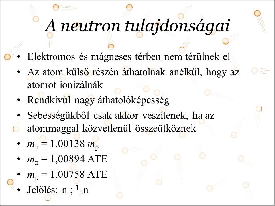 A neutron tulajdonságai