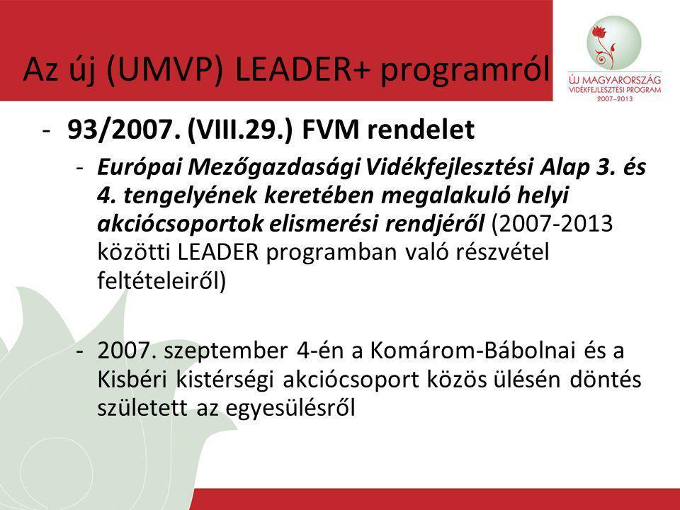 Az új (UMVP) LEADER+ programról