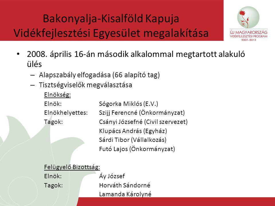 Bakonyalja-Kisalföld Kapuja Vidékfejlesztési Egyesület megalakítása