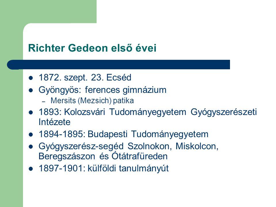 Richter Gedeon első évei