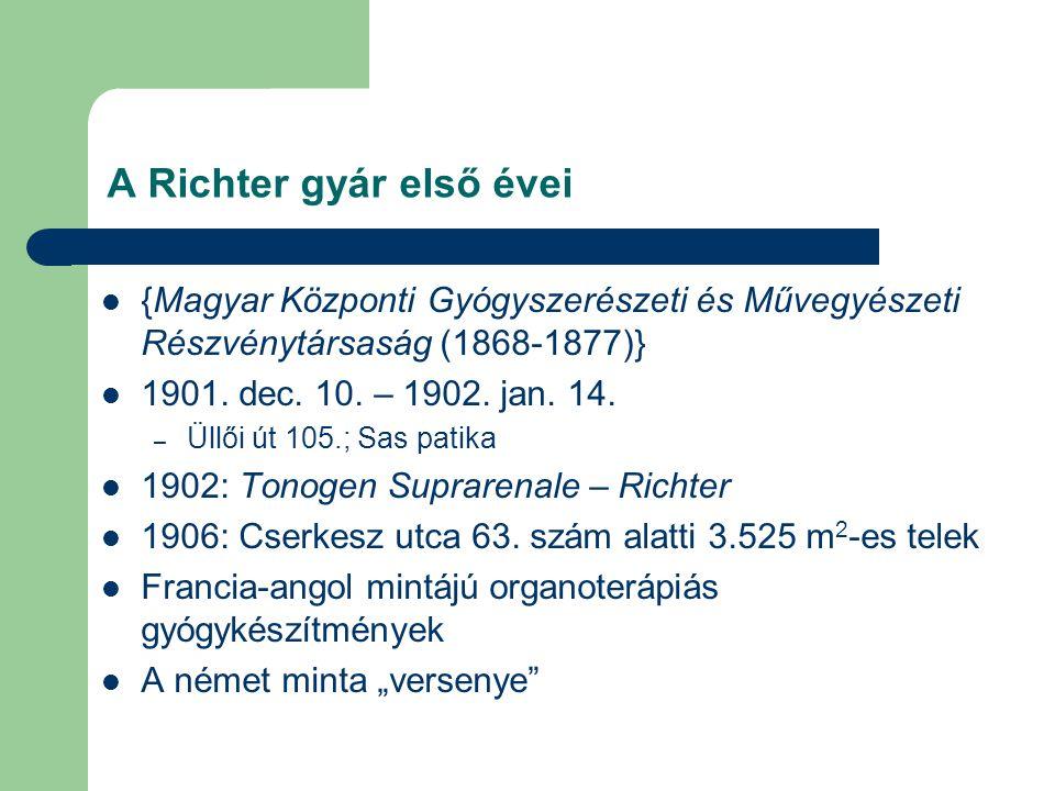 A Richter gyár első évei