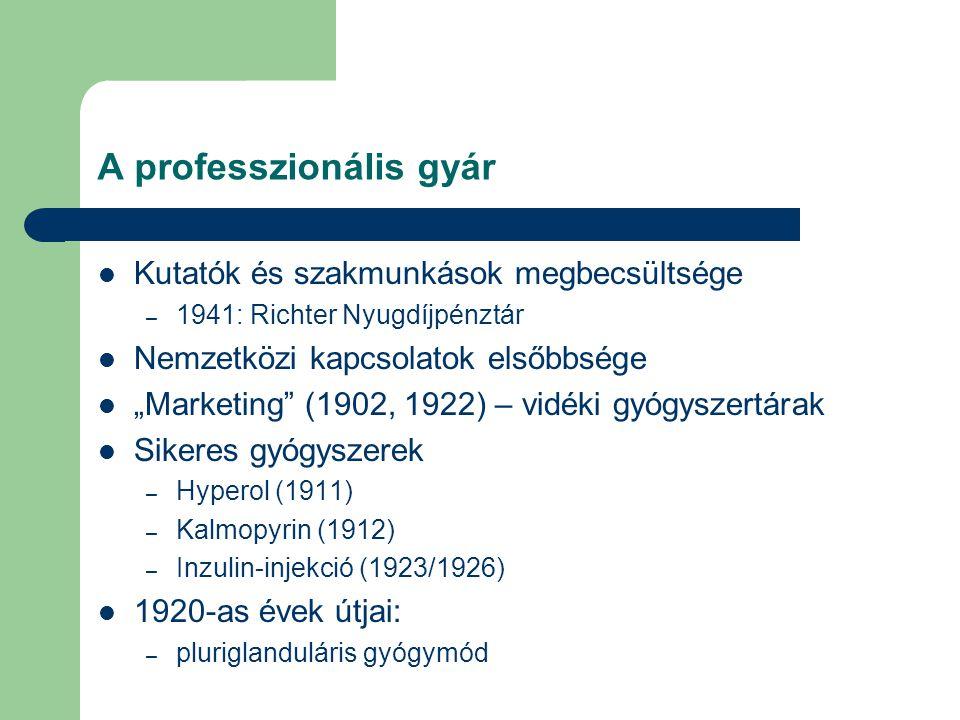 A professzionális gyár