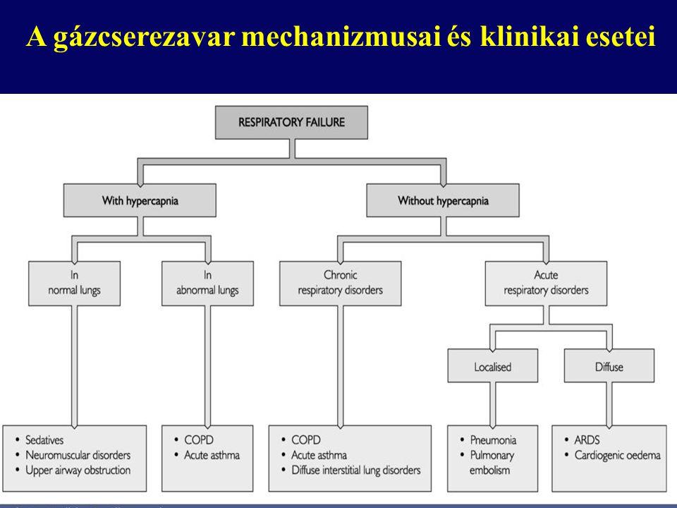 A gázcserezavar mechanizmusai és klinikai esetei
