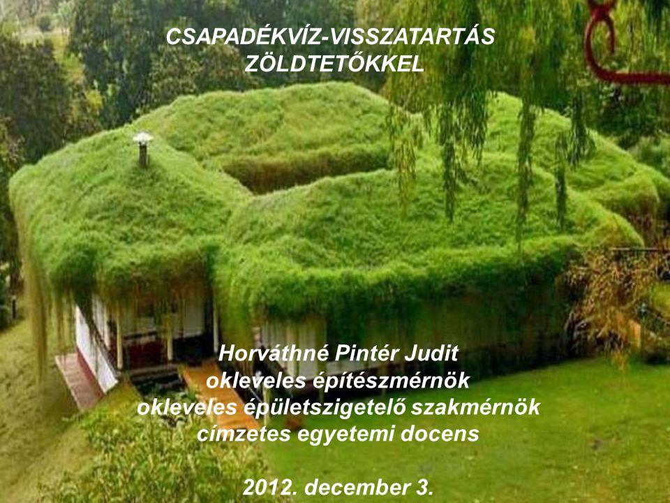 CSAPADÉKVÍZ-VISSZATARTÁS ZÖLDTETŐKKEL