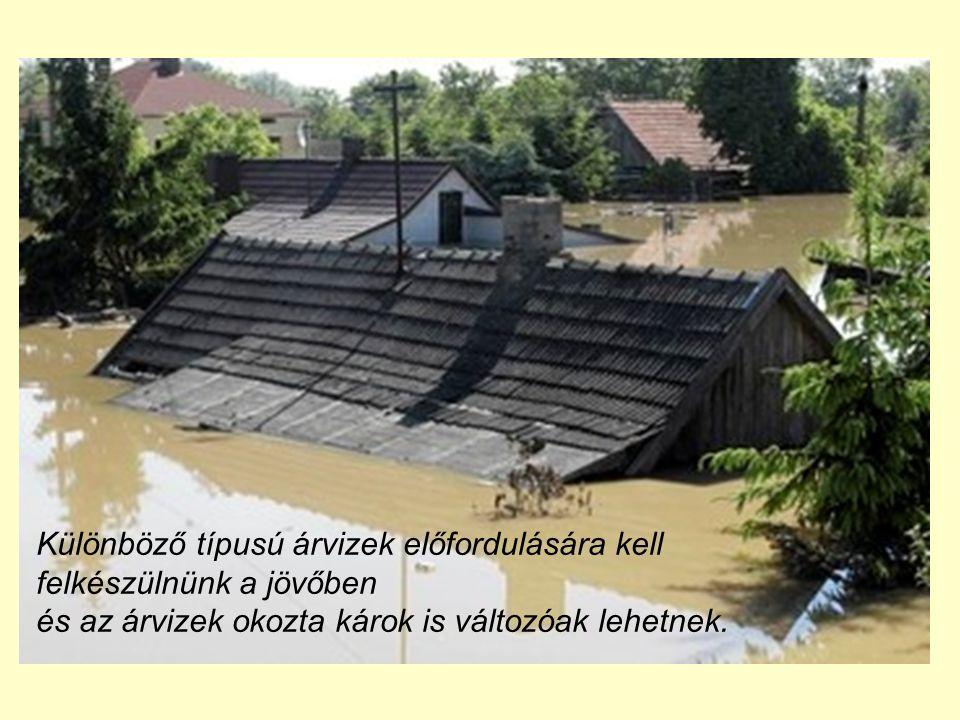 Különböző típusú árvizek előfordulására kell