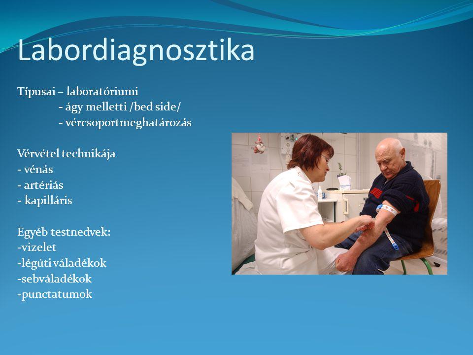 Labordiagnosztika Típusai – laboratóriumi - ágy melletti /bed side/