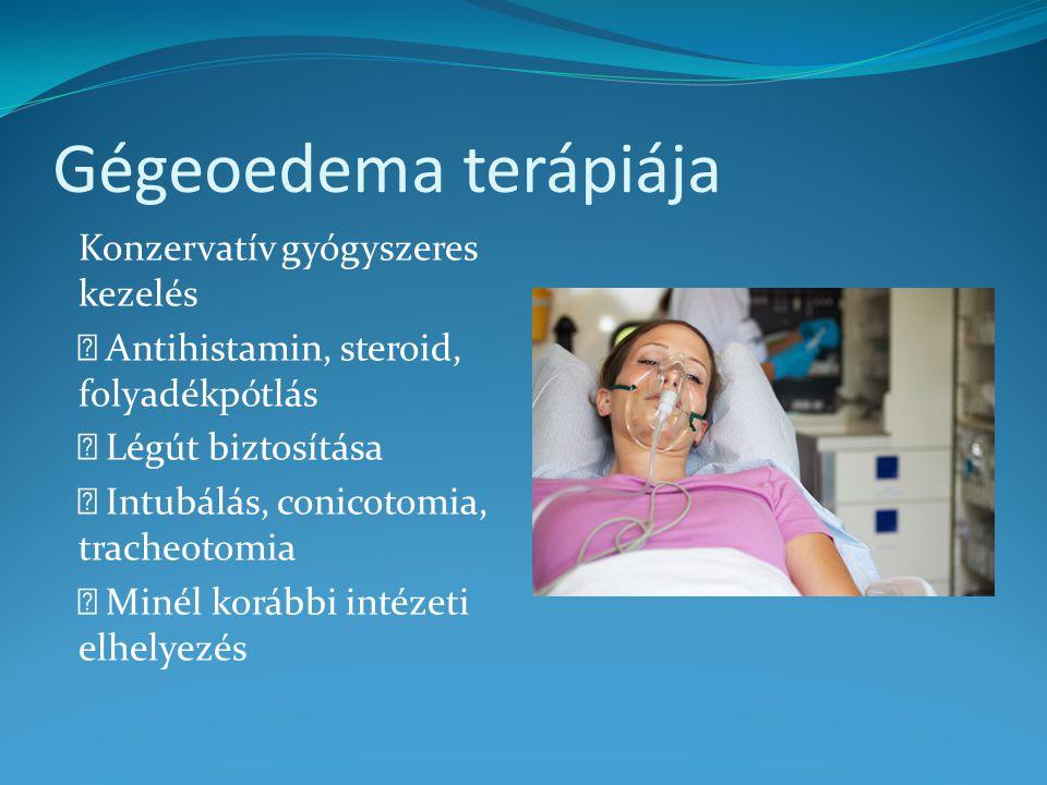 Gégeoedema terápiája