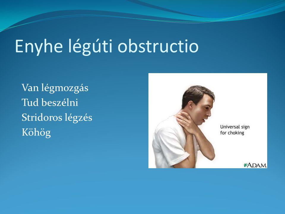 Enyhe légúti obstructio