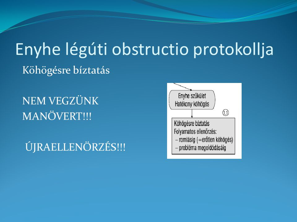Enyhe légúti obstructio protokollja