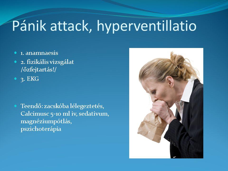 Pánik attack, hyperventillatio
