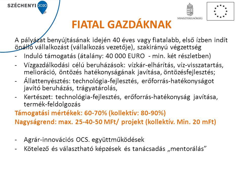 FIATAL GAZDÁKNAK
