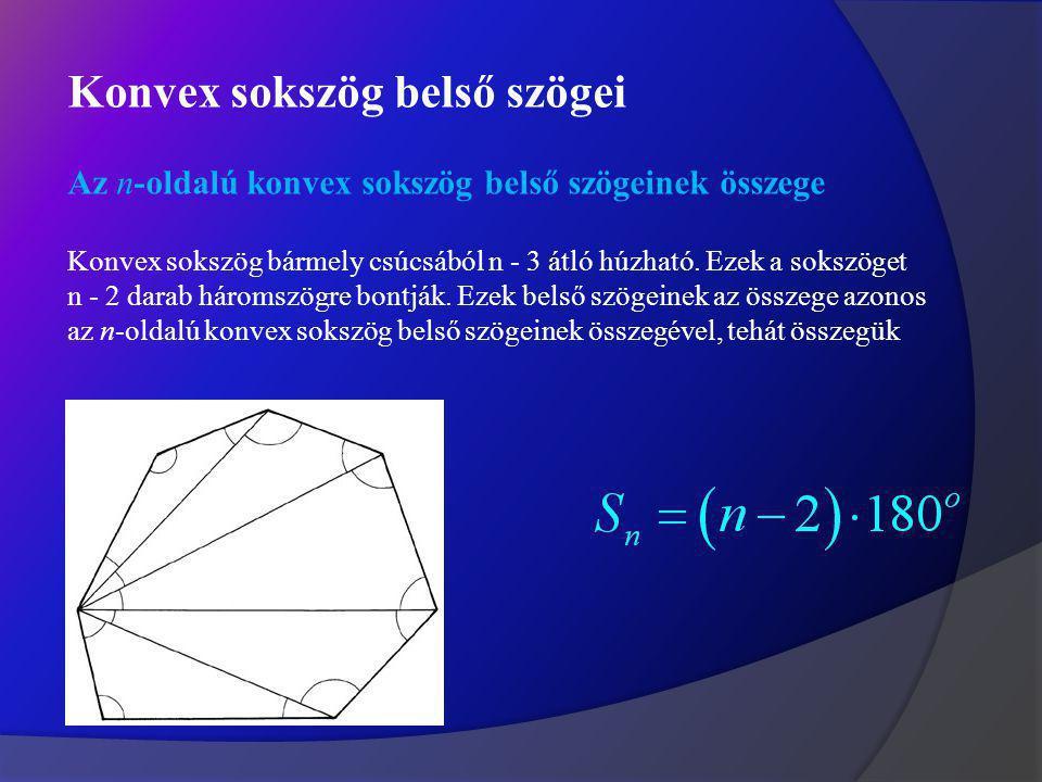 Konvex sokszög belső szögei