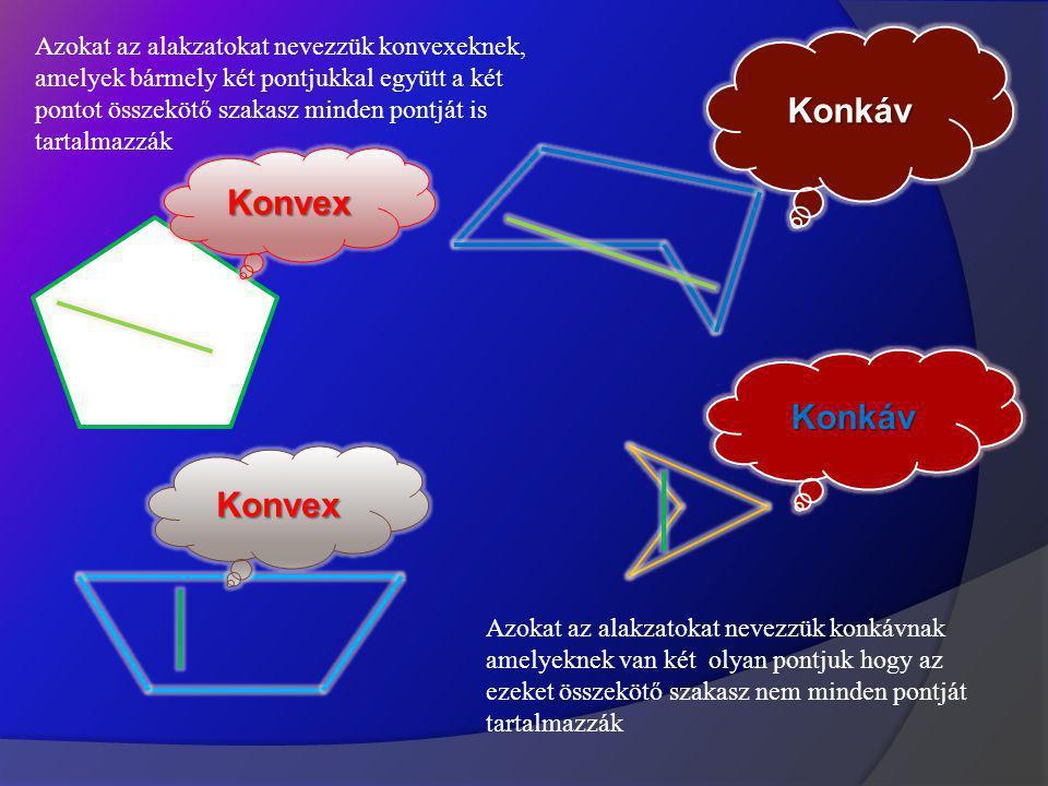 Konkáv Konvex Konkáv Konvex