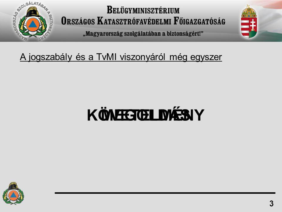 A jogszabály és a TvMI viszonyáról még egyszer