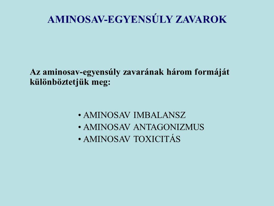 AMINOSAV-EGYENSÚLY ZAVAROK