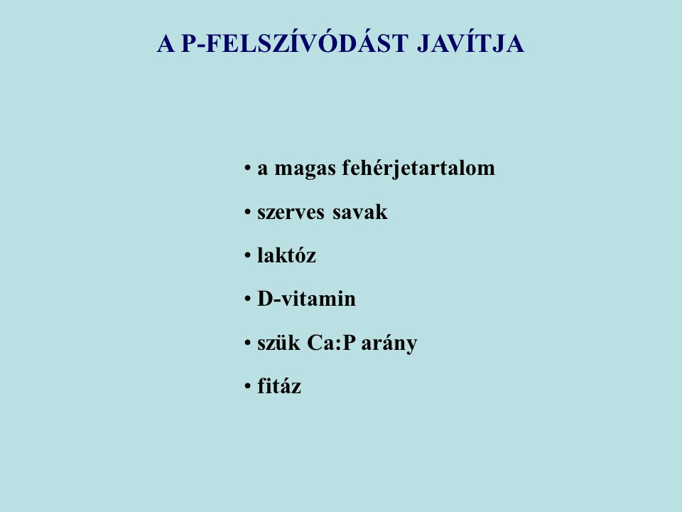 A P-FELSZÍVÓDÁST JAVÍTJA