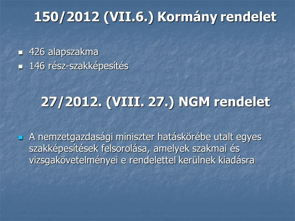150/2012 (VII.6.) Kormány rendelet