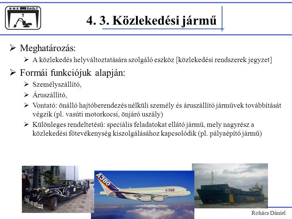 4. 3. Közlekedési jármű Meghatározás: Formái funkciójuk alapján: