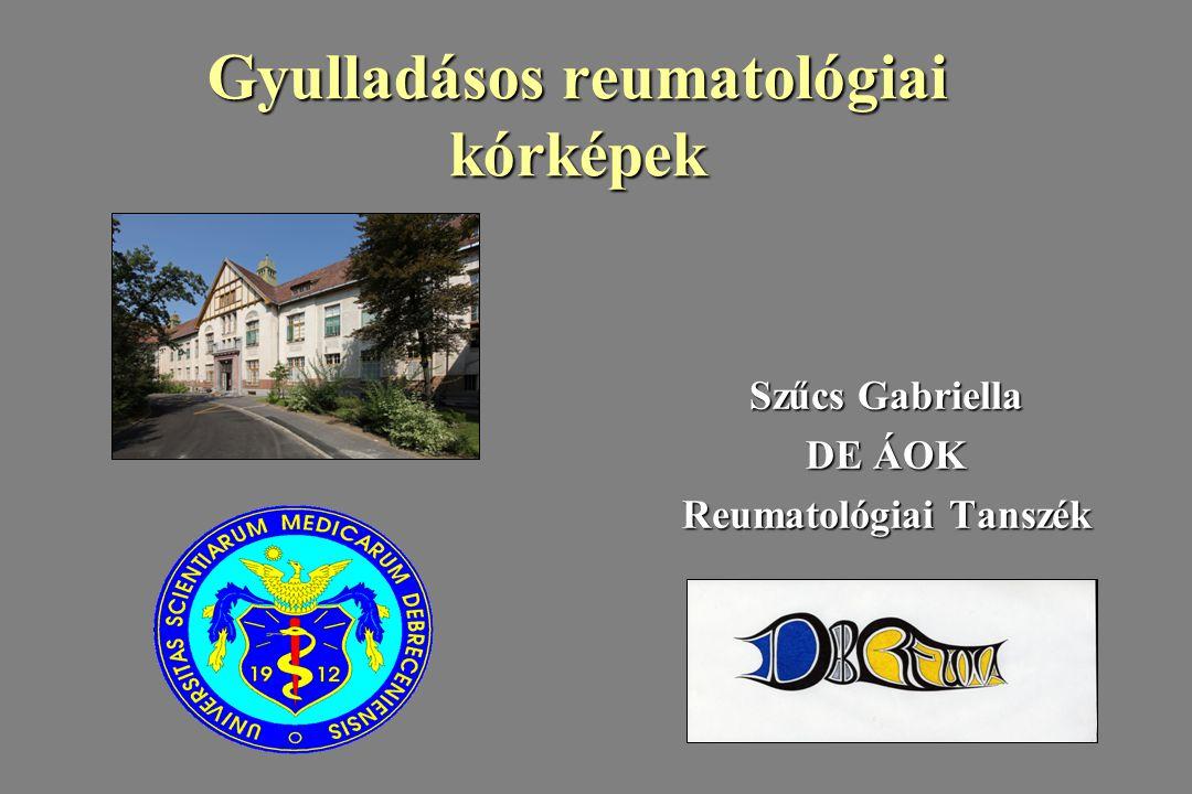 Gyulladásos reumatológiai kórképek