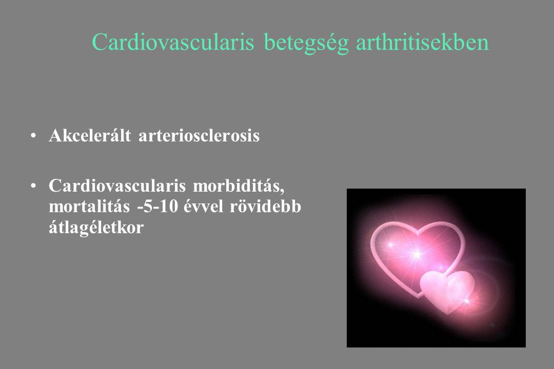 Cardiovascularis betegség arthritisekben