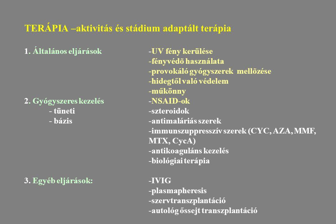 TERÁPIA –aktivitás és stádium adaptált terápia