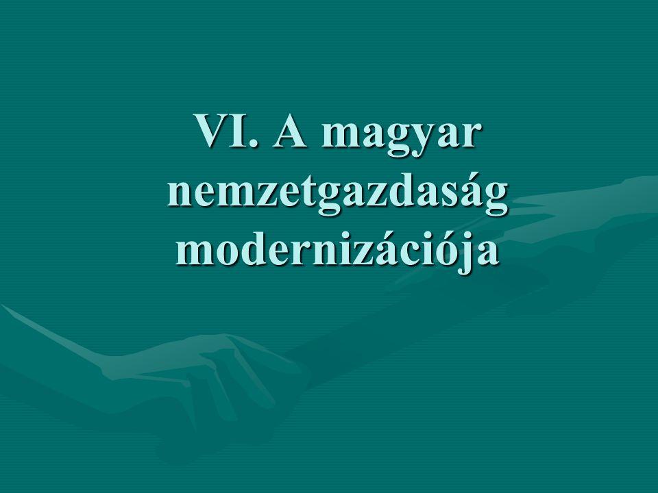 VI. A magyar nemzetgazdaság modernizációja