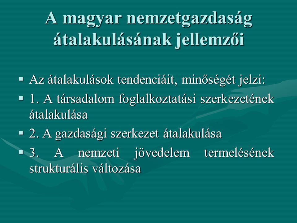 A magyar nemzetgazdaság átalakulásának jellemzői