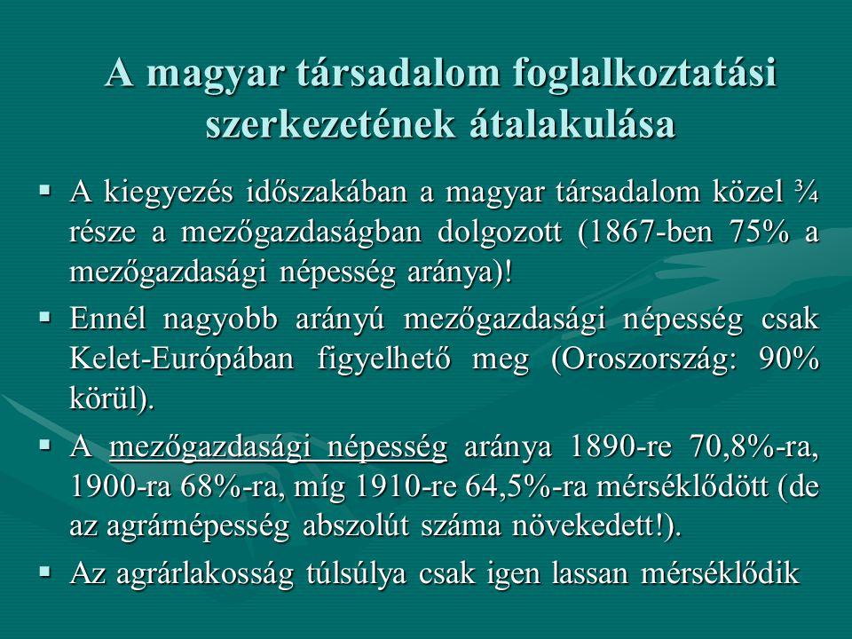 A magyar társadalom foglalkoztatási szerkezetének átalakulása