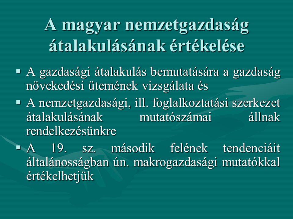 A magyar nemzetgazdaság átalakulásának értékelése