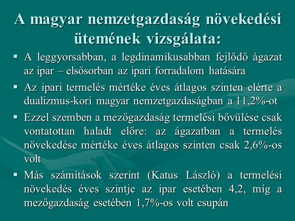 A magyar nemzetgazdaság növekedési ütemének vizsgálata: